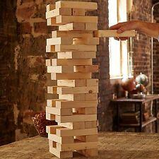 $200 Refinery CLASSIC Jumbo VINTAGE WOOD BLOCK TOWER Stacking Jenga Game
