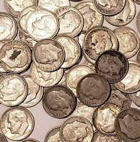 10 @ 90% Silver Coin Lot - 1946- 1964 FDR Roosevelt Dimes (Random unsearched)