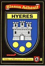 carte Kroma autocollant HYERES 398 sticker héraldique blason wappen coat of arms