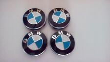 4X Genuine BMW WHEEL CENTRE CAPS,10 Pin Clips 68mm badge FITS 1 3 5,7 E F M X Z