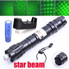 600Miles Ultra Bright Star Pattern Green Laser Pointer Pen Visible Beam Lazer Us
