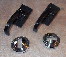 Kit maniglie apriporta in plastica nera e borchie cromate Fiat 500 L