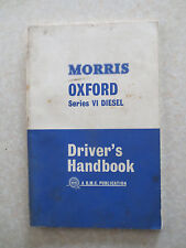 Original 1965 Morris Oxford Series VI Diesel automobile owner's manual