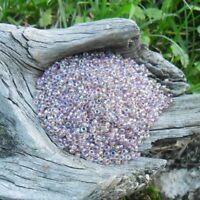 50 g de rocailles Tchèque Light Amethyste irisé  Marque Ornella 2,2 mm
