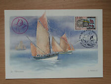 France 1988 Fete de la Voile Traditionnelle Post Card 2F Musee du Bateau stamp