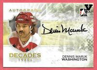 2015-16 Dennis Maruk ITG Final Vault 2010-11 Decades 1980s Auto - Capitals