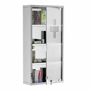 4 Tier Stainless Steel Wall Mounted Medicine Cabinet
