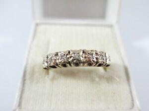LOVELY VINTAGE, BIRM.1976 9ct GOLD DIAMOND 1/2 ETERNITY RING UK SIZE O1/2  2.2g