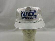 Vtg 23rd Annual Convention NADC Hat Ball Cap Silver Foil Space Command Center