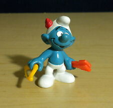Smurfs Archer 3 Piece Bow & Arrow Smurf Hunter Figure Vintage Pvc Figurine 20102