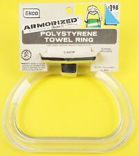 Vintage Ekco Stirrup Polystyrene Towel Ring Holder Chrome NOS New 50s 60s