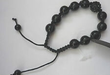 NWT.Ladies black Shamballa style frienship bracelet****