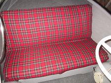 Fabric Seat Checkered Red Vintage Car Beetle Goggo Dixi Mini Cooper Taunus 2cv