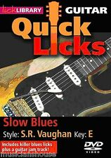 LICK LIBRARY Learn to Play QUICK LICKS STEVIE RAY VAUGHAN Slow Blues GUITAR DVD