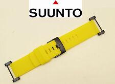 Suunto Core  ORIGINAL watch band strap YELLOW Rubber with attachment  2 pins.
