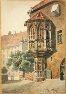 Antique Watercolor by Friedrich Trost the Younger my #1 of 2