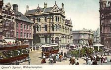 Wolverhampton. Queen's Square in Starr's Series, Wolverhampton. Trams.