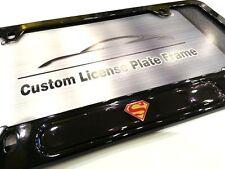 License Plate Frame for SUPERMAN Matte Black Man of Steel Superboy Supergirl DC