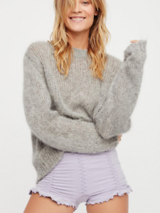 NEW Free People Intimately Ruched Seamless Shorts in Lilac sz XS/S & M/L $38