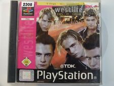 !!! Playstation ps1 jeu Westlife fan-o-Mania d'occasion, mais bien!!!