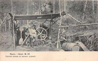 POSTCARD RUSSIA - URALS - MINING OF IRON ORE - ANIMATED SCENE -  CIRCA 1913