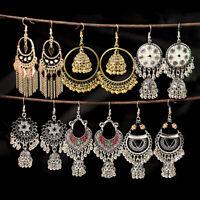 Vintage Classic Tassel Hook Jhumki Women Earrings Ethnic Gypsy Indian Earrings