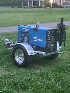 Miller Trailblazer 301d Kubota Diesel 10k watt generator welder pipe liner