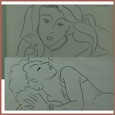 Henry Matisse Two Portraits of a Woman Original Lithograph 1941-42  (BI#MK/0417)