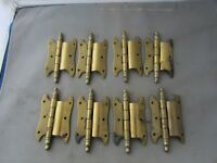 "Lot (8) VTG NOS Offset Hinges Brass Plated 3.5"" Butterfly Amerock?"