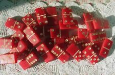 Vintage Cherry Red Dominoes 28 Mixed Media Jewelry Design Collector