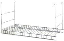 ClosetMaid White Wire Add-On Hanging Kit Vinyl Coated Steel Universal Storage