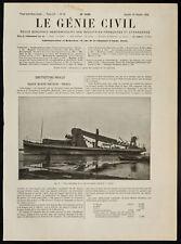 1909, Vue d'ensemble de la drague marine porteuse Venezia - Marine