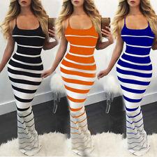 Women Bodycon Sleeveless Strapless Sheath Party Clubwear Club Pencil Dress UK