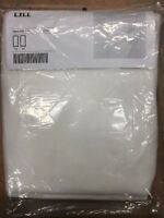 """Ikea Lill Sheer White Curtains New 110"""" x 98"""" 2 Panels"""