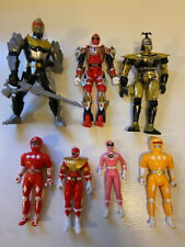 Lot of 7 Vintage Power Rangers, Roboknight, Beetleborg and more