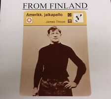 JAMES THORPE FOOTBALL 1979 FINNISH #58-1372 Sportscaster card - From Finland