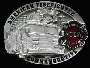 2013 AMERICAN FIREFIGHTER COMMEMORATIVE BELT BUCKLE LIMITED EDITION NEW!