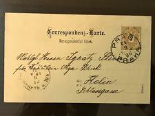 1886 Praha Prague to Berlin Germany on Austria Postcard Correspondens Karte