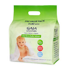 GAIA Natural Baby Bamboo Wipes 240 Cincotta Chemist