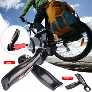 1 Pair Ergonomic Carbon Fiber MTB Road Bar Ends Mountain Bike Handlebar Grips