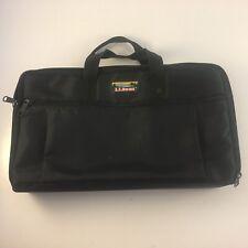 Vintage LL Bean Case Logic Portable Black Nylon 30 Cassette Carry Case Storage