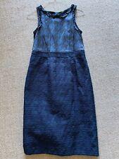 Banana Republic Madmen Dress Collection Dark Blue Knit Print Size 10