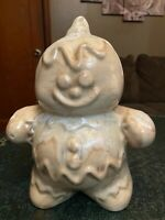 Hull Pottery Association Commemorative Tan Gingerbread Man Bank 2001 *Sample*