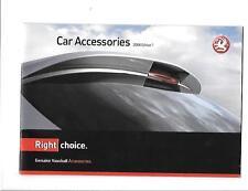 VAUXHALL accessori per auto vendite BROCHURE DICEMBRE 2007 per 2008 ANNO del modello