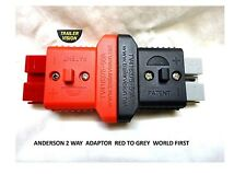 50 Amp  Anderson Double Plug Connector Red  to Grey