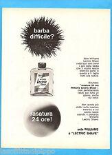 QUATTROR965-PUBBLICITA'/ADVERTISING-1965- WILLIAMS LECTRIC SHAVE