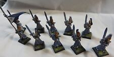 Warhammer High Elves Sword Masters Hoeth army lot 10 well painted table ready