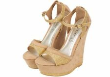 Wedge Composition Leather Standard Width (B) Heels for Women