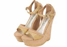 Wedge Peep Toes Party Standard Width (B) Heels for Women