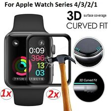 2x 3DCurved Tempered Glass FULLCOVER Screen Protector Apple Watch Series 1/2/3/4